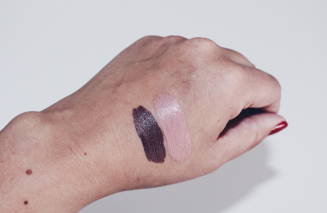 Swatches v.l.n.r. 05 Beauty Mark / 11 Baby Doll
