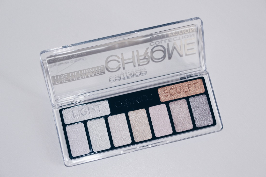 The Ultimate Chrome Collection Eyeshadow Palette in 010 Heights and Lights