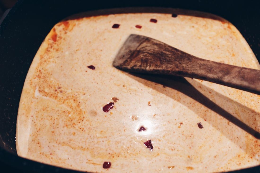 Kokos-Kürbis-Curry Zubereitung